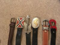Men's USA/Western themed belts and belt buckles