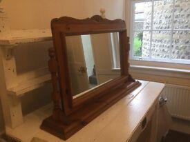Pine Swivel Mirror on stand