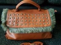 NEW Handbag tan fur