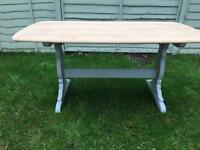 Ercol dining table retro vintage mid upcycled Annie Sloane grey chalk paint shabby chic