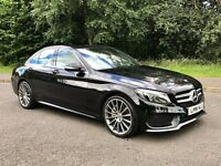 2015 MERCEDES C220 AMG LINE AUTO***FINANCE AVAILABLE***£30 ROAD TAX***(NOT BMW AUDI VOLKSWAGEN)