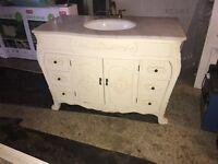 Louis Vanity Sink Unit with Marble Top x2