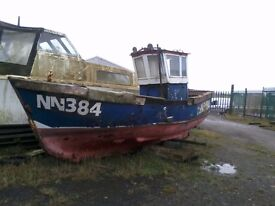 21 foot ex commercial fishing boat project GRP