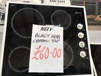 *+WHITE NEFF CERAMIC TOP HOB IN GREAT WORKING+CONDITION ORDER*+*
