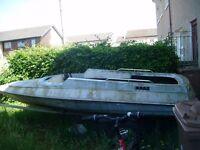 fibreglass speed boat shell