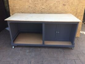 """WORK STATION 70 X 29"""" MOBILE WITH LOCKABLE WHEELS - CAN DELIVER"""