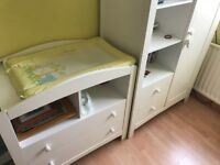 Three piece Child's Bedroom Furniture - Bed, Wardrobe and Changing table