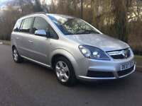 VAUXHALL ZAFIRA 1.6 CLUB 7 SEATER FULL MOT NO ADVISORIES SERVICE HISTORY IMMACULATE