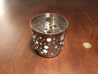 Two metal candle holders from Ikea