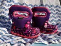 Baby Bogs Barefoot Wellies Pink Zoo EU 2 / UK 4 / US 5