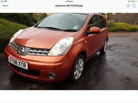 Nissan note 2008 AUTOMATIC