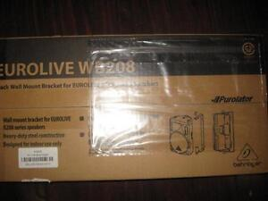 Behringer Eurolive WB208 Wall mount PA Speaker Bracket. Rugged. Stainless Steel. 180 Degree Rotation. Heavy Duty. NEW