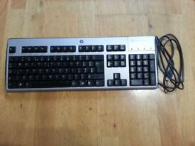HP Computer Keyboard - With Smart Card Reader - House Clearance
