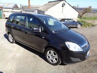 2009 VAUXHALL ZAFIRA 1.6 EXCLUSIVE 5 DOOR HATCHBACK BLACK 7 SEATER