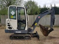Terex TC 20 2 Tonne Excavator 2016 ( only 18 months old) Expanding tacks. 934 hrs