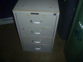 4 Draw under desk filing cabinet (unusual)