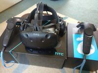 HTC Vive - Full Kit + Deluxe Audio Strap (within Warranty)