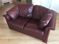 2x seater leather sofa