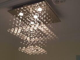 Modern Rain drop two tier Chandelier Ceiling Light Halogen lighting Approx. 40cm
