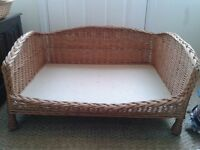 Wicker Dog Settee