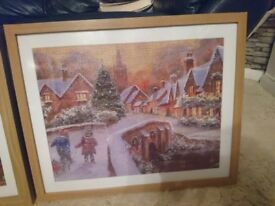 Beautiful jigsaw in frame