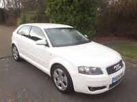 AUDI 1.6 SPECIAL EDITION 05 REG IN WHITE WITH BLACK TRIM, SERVICE HISTORY,MOT NOVEMBER 07867955762
