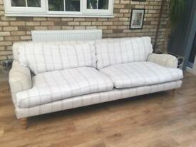 John Lewis Large 3 seater sofa feather filled seats