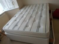 Double divan and mattress with two drawers storage