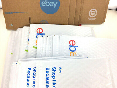 29 Ct Ebay Shipping Kit Lot Boxes Padded Bubble Envelopes Mailers Tape Stickers
