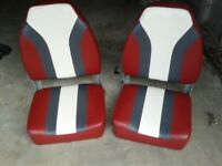 A pair of boat seats