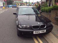 2002 BMW 316 I SE BLACK, 1 Previous Owner, FSH, Lots of £££ spent. Spares or Repair. NO MOT