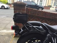 Leather rear luggage bag/carrier