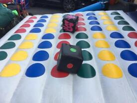 Inflatable twister bouncy castle