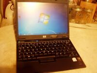 HP Compaq nc2400 Laptop: 80GB :Dual Core 1.20Ghz :2GB RAM :Win 7 : Activated Office 2007