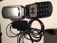Samsung flip phone with charger