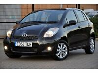 2009 Toyota Yaris 1.4 D-4D T Spirit 5dr+TAX £20 PER YEAR+FULL SERVICE HISTORY+FREE WARRANTY+6 SPEEDS