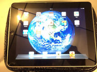 Ipad 1 16 gig, wifi, Black, good condition very bright screen, case.
