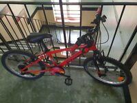 Red B'Twin bike 16 inch £30