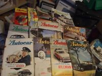 12 ISSUES THE AUTOCAR MAGAZINE 1952 - 1959