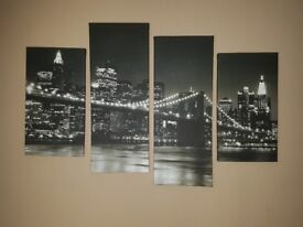 New York Brooklyn Bridge floating canvas picture