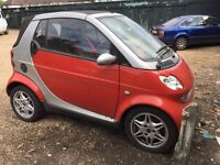 Mercedes Smart Passion Softouch Convertible 599cc Petrol Automatic 51 Plate 0312/2001 Red