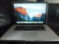 "Apple 15.4"" MacBook Pro Unibody 2.4GHz 4GB RAM 320GB - Mac OS X El Capitan & Software"