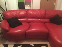 Real leather corner suite £125