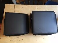 2 DVD/CD Carry Cases with zip - each holds 400 discs
