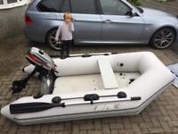 Bombard Max 3 tender sib boat mariner 3.3hp outboard