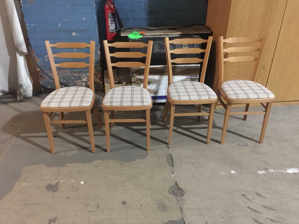 4 X Chairs In Good Condition Can Deliver In Rotherham