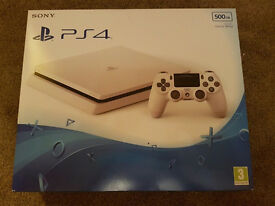 PS4 White Slim Console Brand New & Sealed with 12 Months Sony Warranty