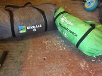 Eskdale 8 berth tent with hi gear porch