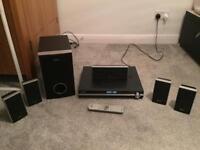 Sony Home Theatre Speaker Surround Sound System - Amplifier, Sub, DVD Player