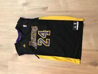 Lakers basket ball top black